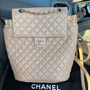 Chanel beige urban spirit backpack